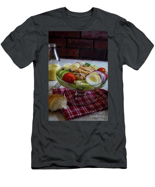 Men's T-Shirt (Slim Fit) featuring the photograph Honey Mustard Chicken Cobb Salad 1 by Deborah Klubertanz