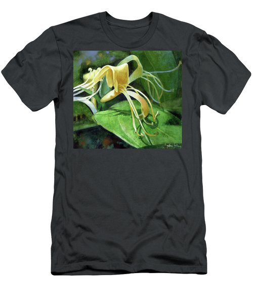 Men's T-Shirt (Athletic Fit) featuring the painting Honeysuckle Shade by Andrew King