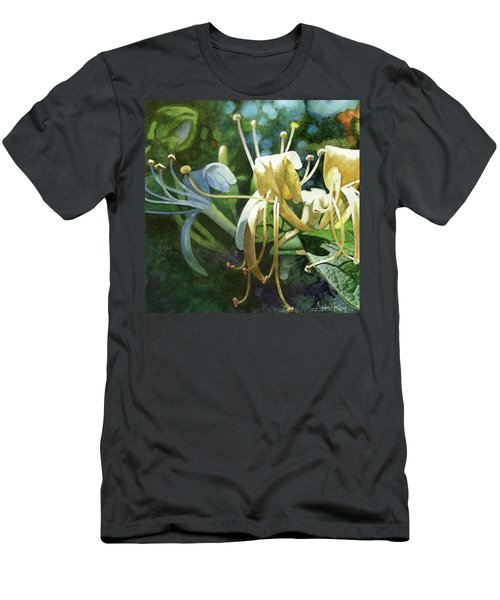 Men's T-Shirt (Athletic Fit) featuring the painting Honeysuckle Sun by Andrew King