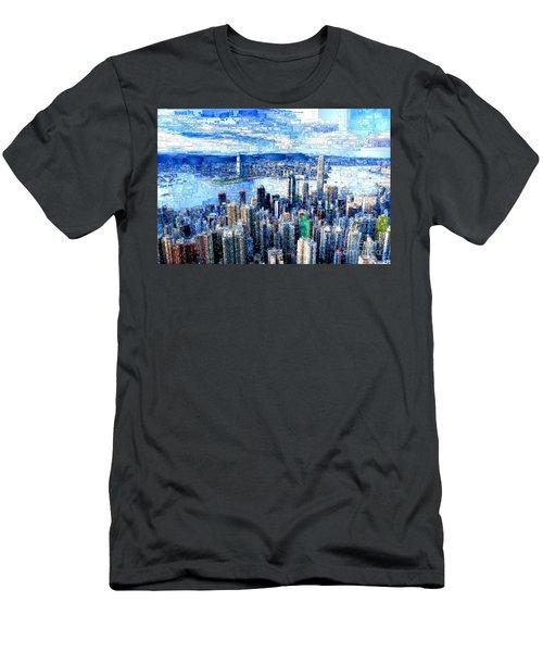 Hong Kong, China Men's T-Shirt (Athletic Fit)