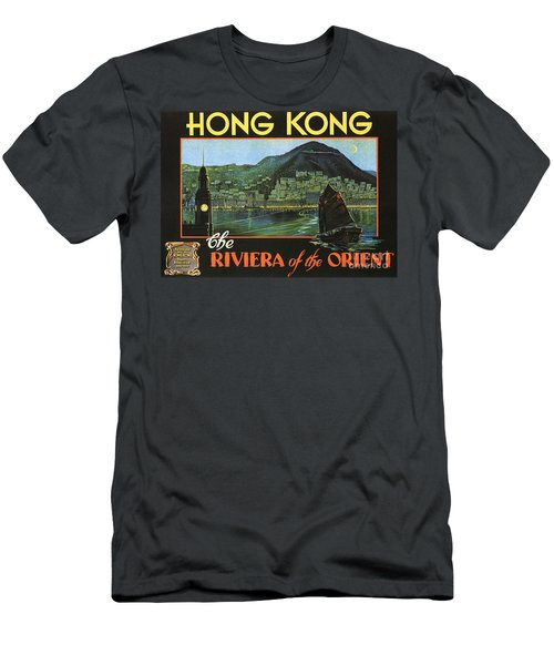 Hong Kong - Riviera Of The Orient Men's T-Shirt (Athletic Fit)