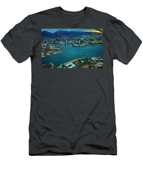 Honolulu Waterfront At Dawn Men's T-Shirt (Athletic Fit)