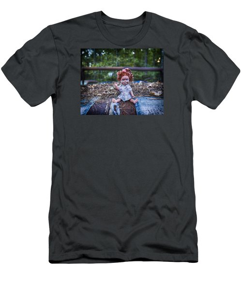 Men's T-Shirt (Slim Fit) featuring the photograph Hood Ornament? by Alan Raasch