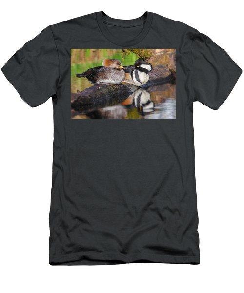 Hooded Merganser Pair Men's T-Shirt (Athletic Fit)