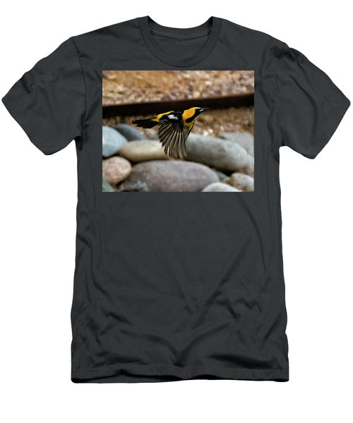 Men's T-Shirt (Athletic Fit) featuring the photograph Hooded Oriole H37 by Mark Myhaver