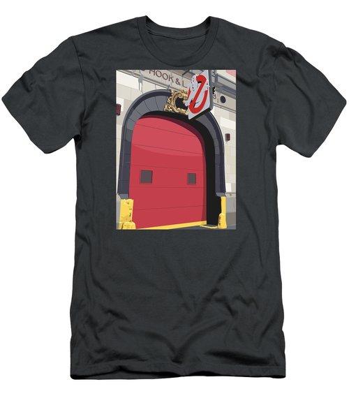 Hook And Ladder No. 8 Men's T-Shirt (Slim Fit) by Kurt Ramschissel