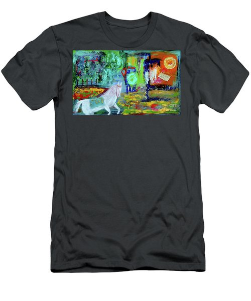 Hope - White Rain Comes From Dark Clouds Men's T-Shirt (Slim Fit) by Haleh Mahbod