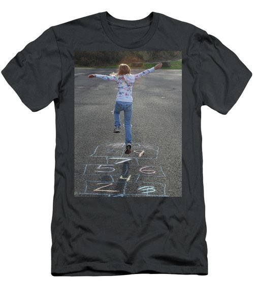 Men's T-Shirt (Slim Fit) featuring the photograph Hopscotch Queen by Richard Bryce and Family