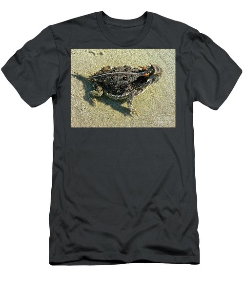 Horny Toad Lizard Men's T-Shirt (Athletic Fit)
