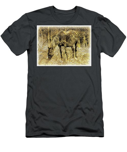 Horse Grazing On Pasture 2 Men's T-Shirt (Athletic Fit)