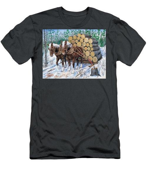Horse Log Team Men's T-Shirt (Athletic Fit)