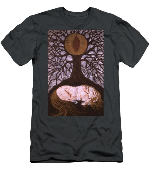 Horse Sleeps Below Tree Of Rebirth Men's T-Shirt (Athletic Fit)