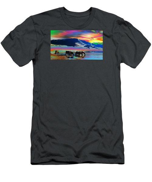 Horse Sunrise Men's T-Shirt (Athletic Fit)
