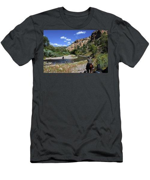 Horseback In The Gila Wilderness Men's T-Shirt (Athletic Fit)