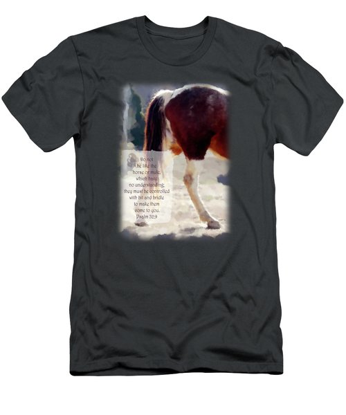 Horse's Hind - Verse Men's T-Shirt (Athletic Fit)