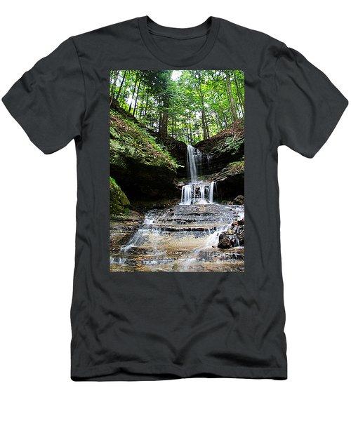Men's T-Shirt (Slim Fit) featuring the photograph Horseshoe Falls #6736 by Mark J Seefeldt