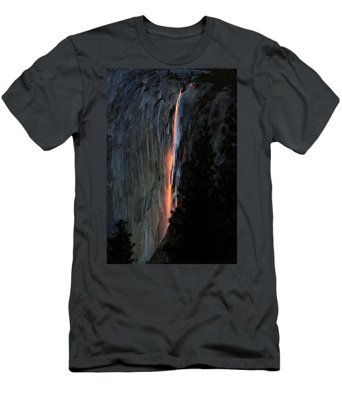 Horsetail Falls Aglow Men's T-Shirt (Athletic Fit)