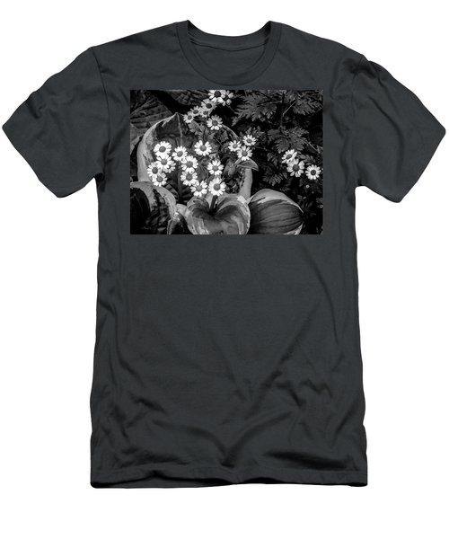 Hosta Daisies Men's T-Shirt (Athletic Fit)