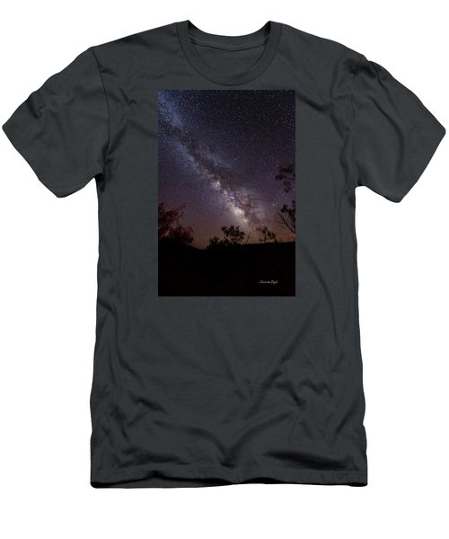 Hot August Night Under The Milky Way Men's T-Shirt (Athletic Fit)