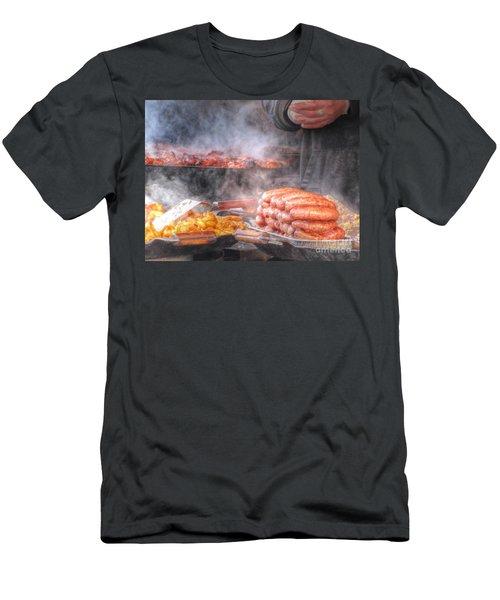 Hot Sausage Hot Dog Men's T-Shirt (Slim Fit) by Yury Bashkin