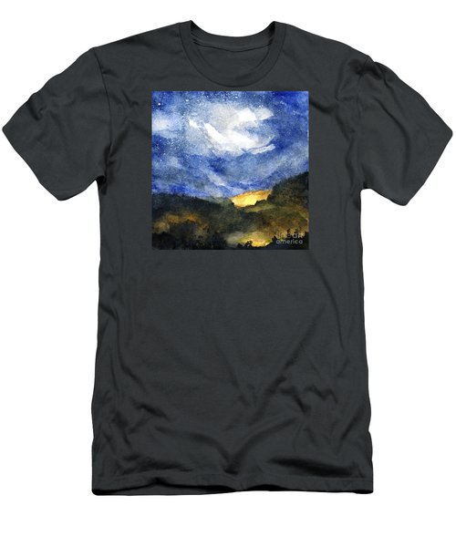 Hot Spots In Our Mountains Tonight Men's T-Shirt (Slim Fit) by Randy Sprout