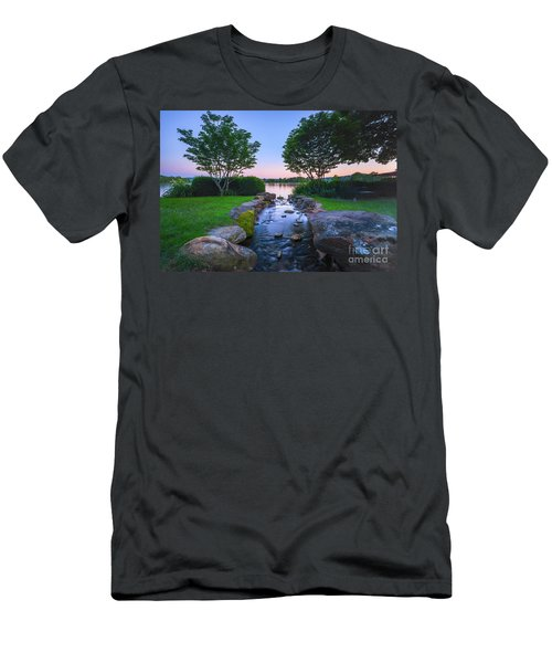 Hot Spring Water Flow Men's T-Shirt (Athletic Fit)
