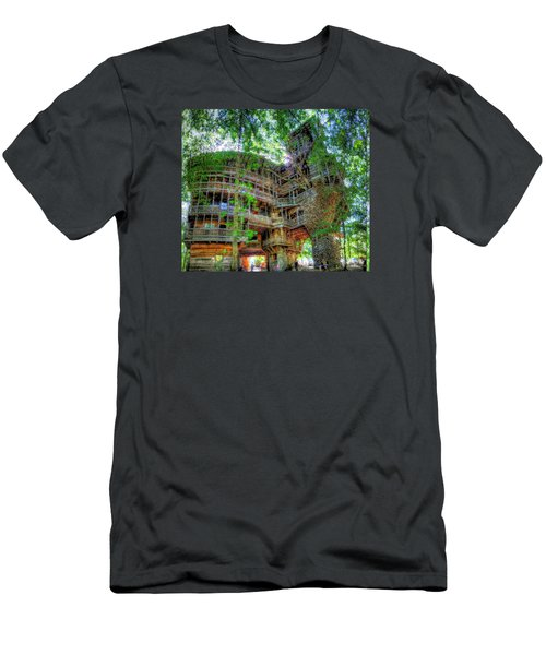 Men's T-Shirt (Slim Fit) featuring the painting Hotel California by Mario Carini