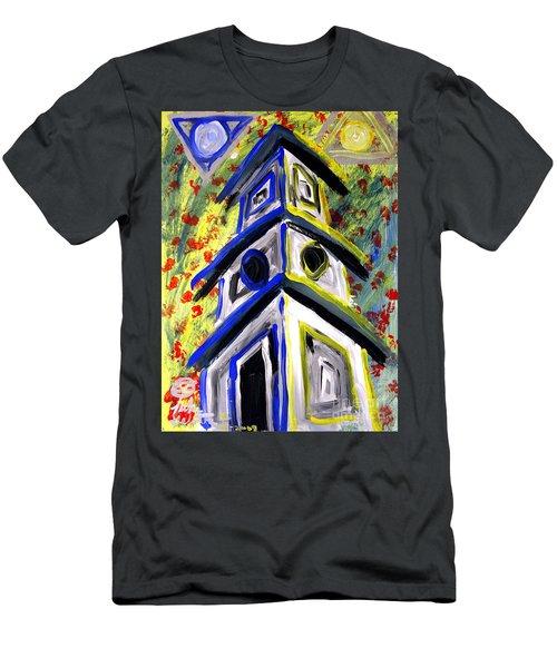 House Men's T-Shirt (Slim Fit) by Luke Galutia