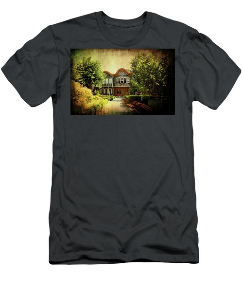 Men's T-Shirt (Athletic Fit) featuring the photograph House On The Hill by Milena Ilieva