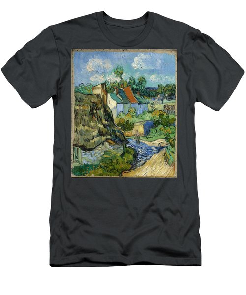 Men's T-Shirt (Athletic Fit) featuring the painting Houses In Auvers by Van Gogh