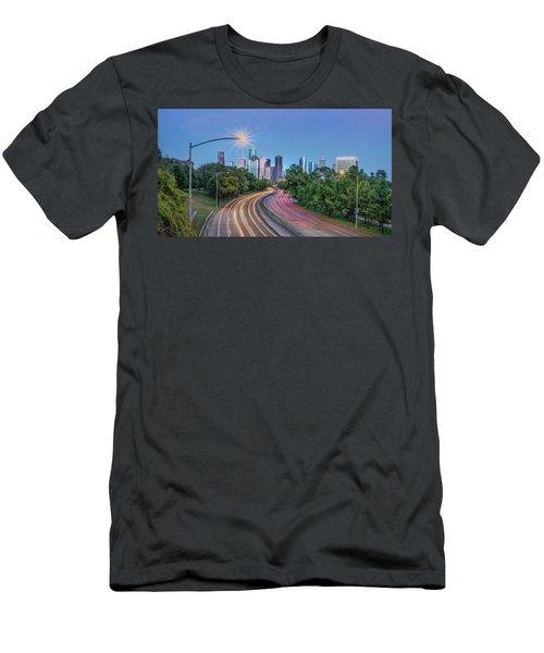 Houston Evening Cityscape Men's T-Shirt (Athletic Fit)
