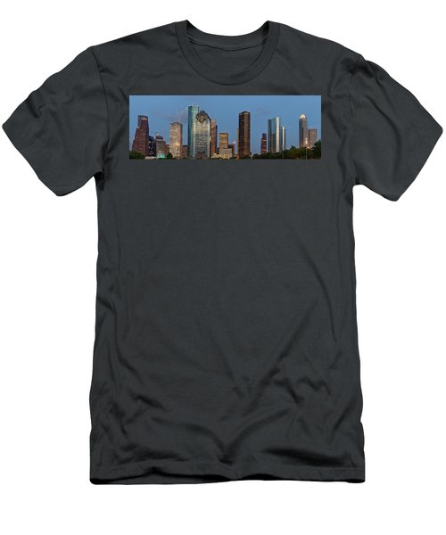 Houston Skyline Panorama Men's T-Shirt (Slim Fit) by Jonathan Davison