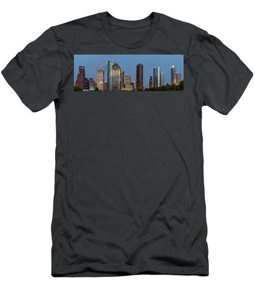 Men's T-Shirt (Slim Fit) featuring the photograph Houston Skyline Panorama by Jonathan Davison