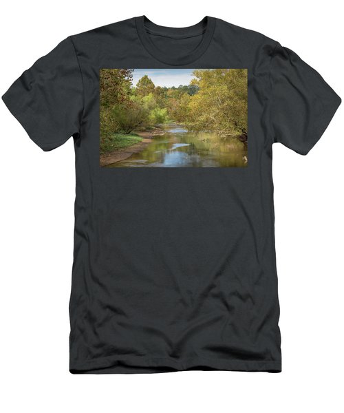 Men's T-Shirt (Athletic Fit) featuring the photograph How Green The Valley by John M Bailey