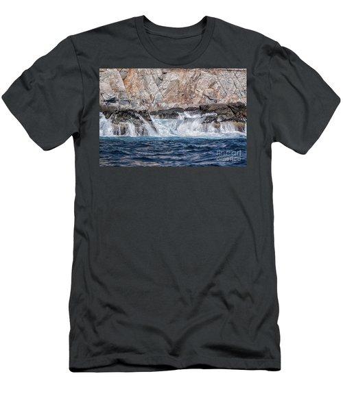 Huatulco Textures Men's T-Shirt (Slim Fit) by Ana Mireles