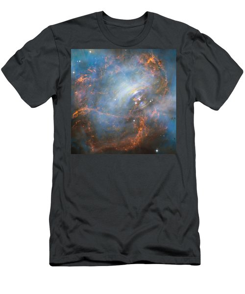 Men's T-Shirt (Slim Fit) featuring the photograph Hubble Captures The Beating Heart Of The Crab Nebula by Nasa