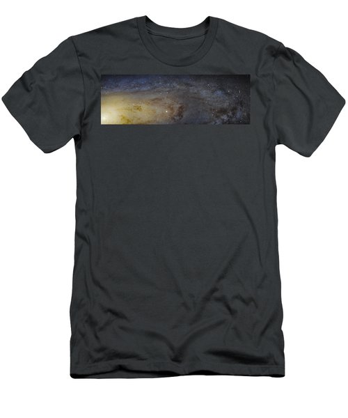 Men's T-Shirt (Slim Fit) featuring the photograph Hubble's High-definition Panoramic View Of The Andromeda Galaxy by Adam Romanowicz
