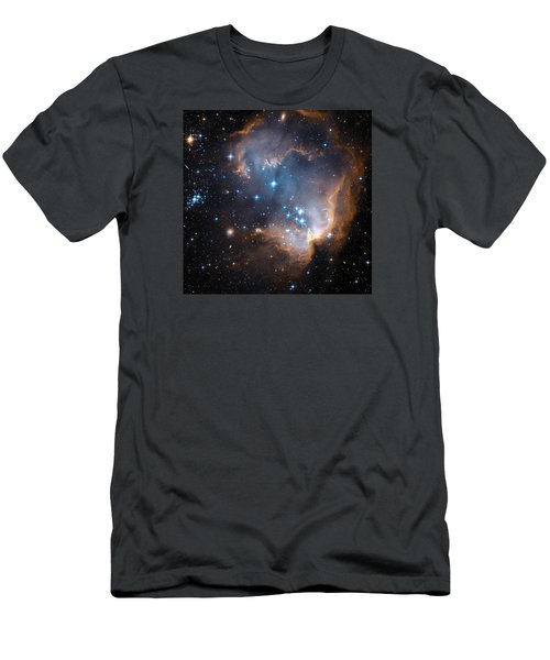 Hubble's View Of N90 Star-forming Region Men's T-Shirt (Slim Fit) by Nasa
