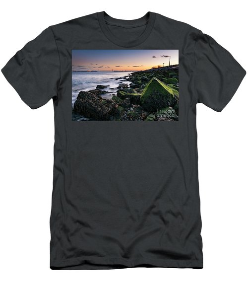 Hudson River And Verrazano-narrows Bridge Men's T-Shirt (Athletic Fit)