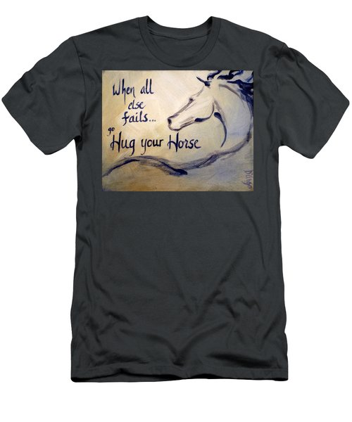 Hug Your Horse Men's T-Shirt (Athletic Fit)