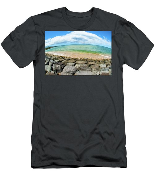Men's T-Shirt (Slim Fit) featuring the photograph Huge Wikiki Beach by Micah May