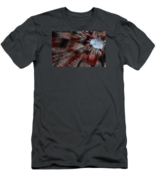 Human Brain, Intelligence And Communication Men's T-Shirt (Athletic Fit)