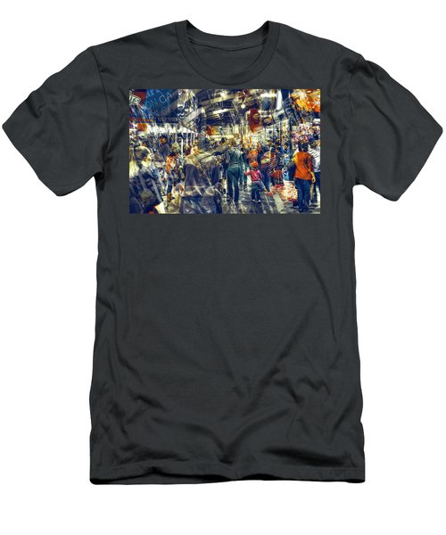 Men's T-Shirt (Slim Fit) featuring the photograph Human Traffic by Wayne Sherriff