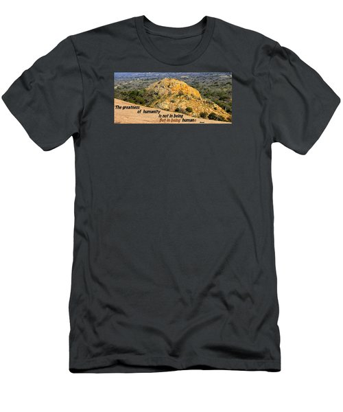 Men's T-Shirt (Slim Fit) featuring the photograph Humanity Reworked by David Norman