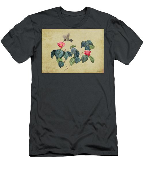 Hummingbird And Japanese Camillea Men's T-Shirt (Athletic Fit)
