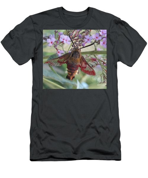 Men's T-Shirt (Slim Fit) featuring the photograph Hummingbird Butterfly by Jeepee Aero