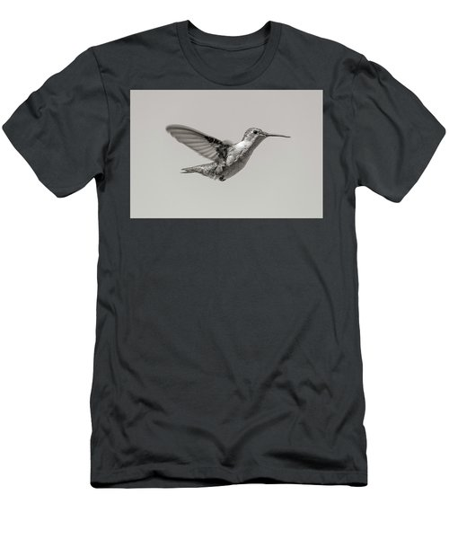 Hummingbird In Black And White Men's T-Shirt (Athletic Fit)