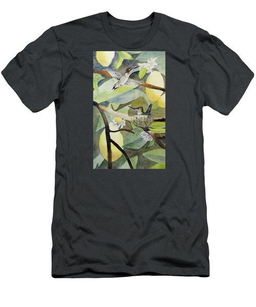 Hummingbirds And Lemons Men's T-Shirt (Athletic Fit)