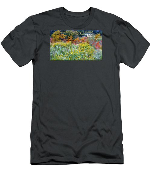 Men's T-Shirt (Slim Fit) featuring the photograph Hundred Hearts by David Norman