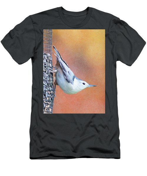 Hungry Nuthatch Men's T-Shirt (Athletic Fit)